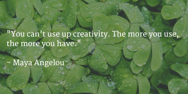You Can't Use Up #Creativity. The More You Use, The More You Have. #MayaAngelou #Inspiration #AmWriting https://t.co/A8yZDZtx6y