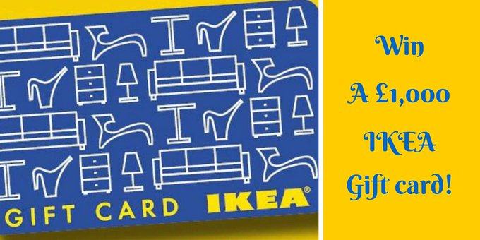 Win a 1,000 Ikea card!Just click FreebieFriday DIY winitwednesday