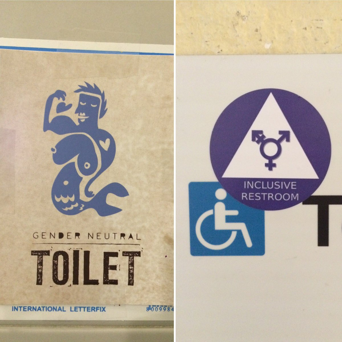 NonBinary NI On Twitter Bathroom Signs Inspiration - International bathroom signs