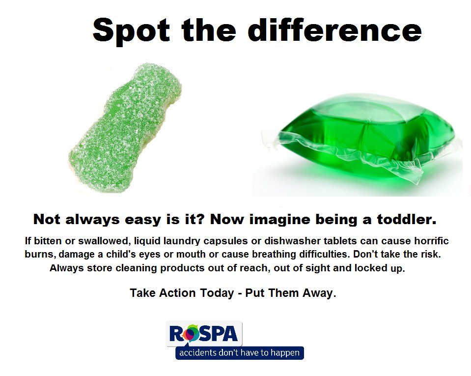 Can u #spotthedifference? Reminding parents to put liquid laundry caps & #dishwashertabs out of sight/reach of kids https://t.co/9GbKUwY22i