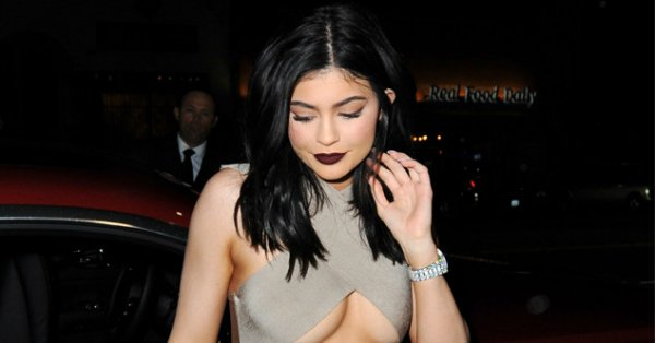 da75db98721 Kylie Jenner flashes major underboob and suffers a wardrobe malfunction   https   t