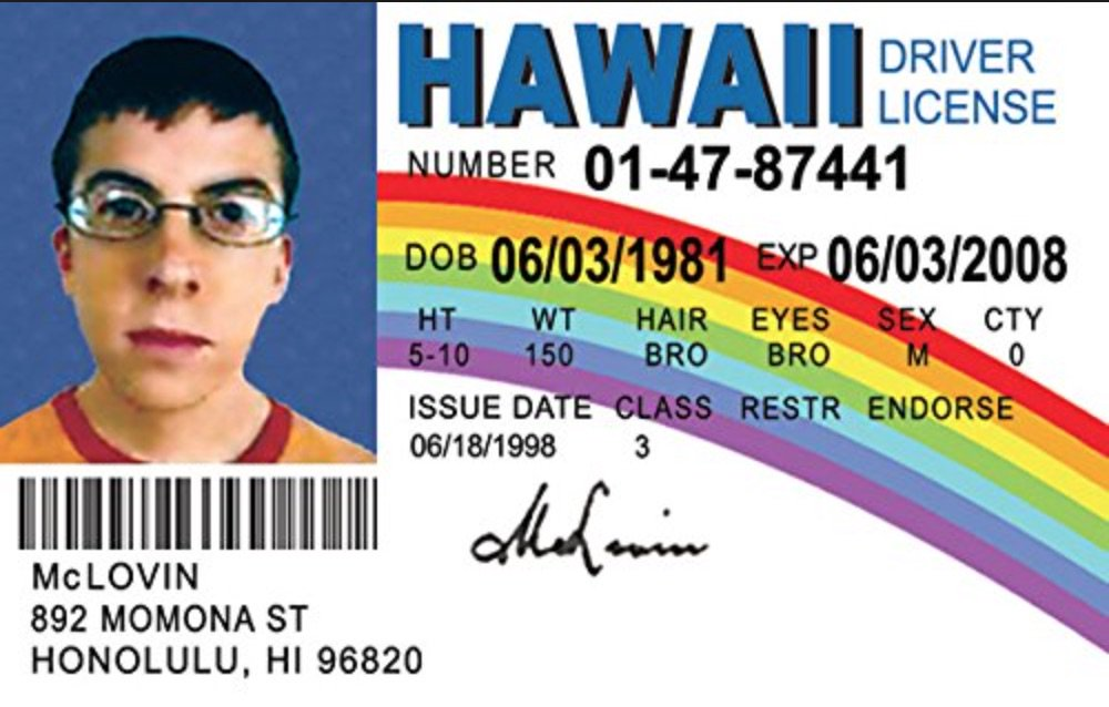 Happy Birthday, McLovin! The 35-year old, Hawaiian organ donor.