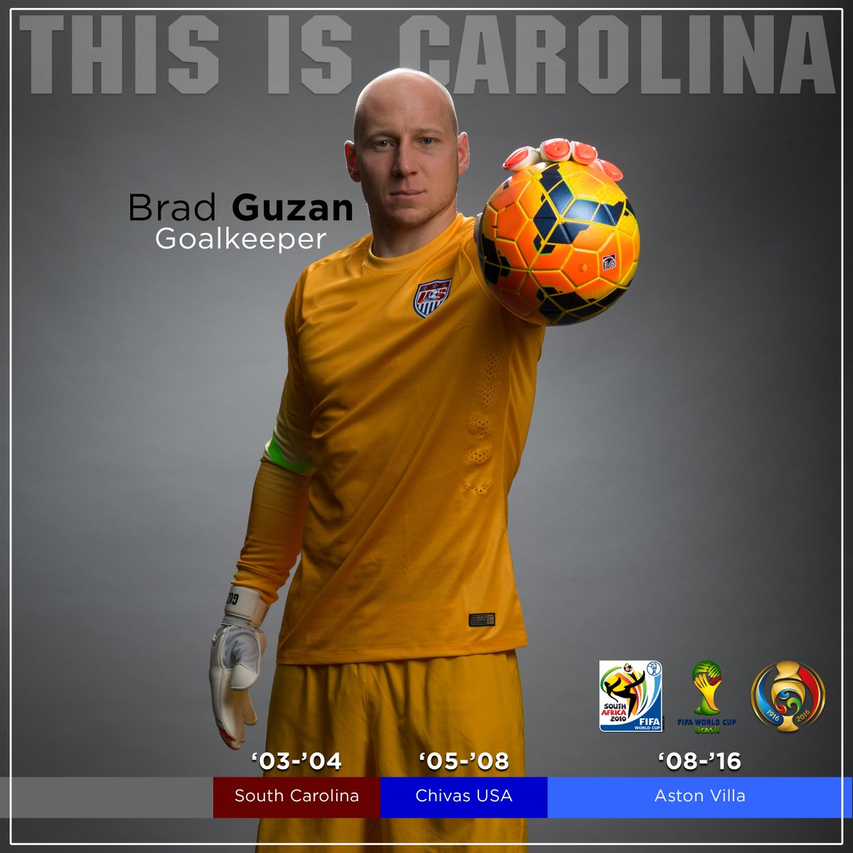 Good luck to former #Gamecocks GK Brad Guzan who starts in goal tonight for the US National Team https://t.co/UWlMjRmCqi