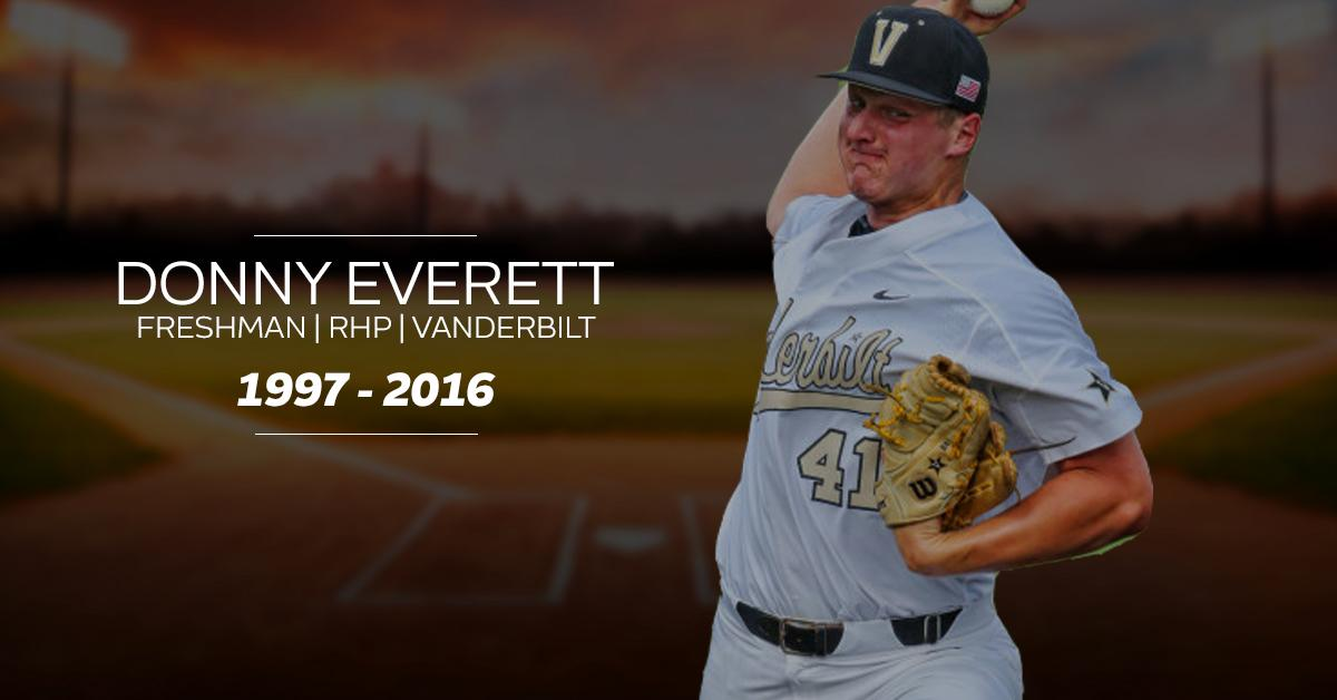We join Vanderbilt in mourning the loss of Donny Everett. Our thoughts are with his family, friends and teammates. https://t.co/6Y3nmuPl7h