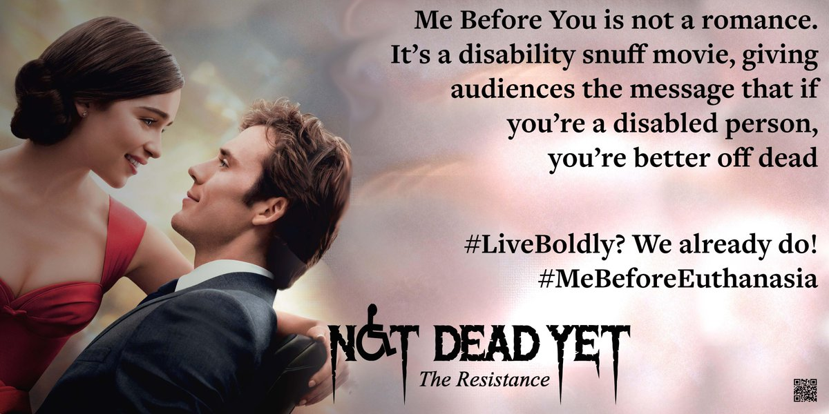 Protest disability snuff film 'Me Before You' #LiveBoldly #MeBeforeEuthanasia @NotDeadYetUSA https://t.co/6Dxt3S30VD https://t.co/zTGNs0HBPF