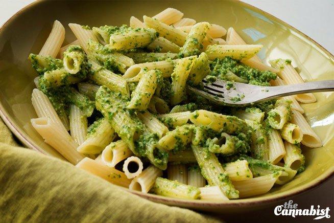 Beyond basil: Pesto made with arugula and walnuts (infused recipe)
