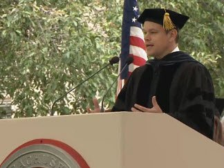 "Damon: ""Affleck said ""Judge me for how good my good ideas are, not for how bad my bad ideas are."" #MIT2016"