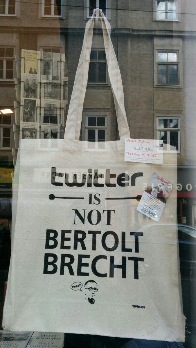 Stofftasche Twitter is not Brecht