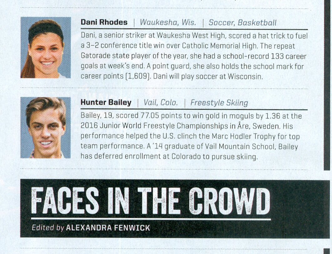 wisconsin soccer on incoming freshman dani rhodes is wisconsin soccer on incoming freshman dani rhodes is featured in the latest sports illustrated for its faces in the crowd