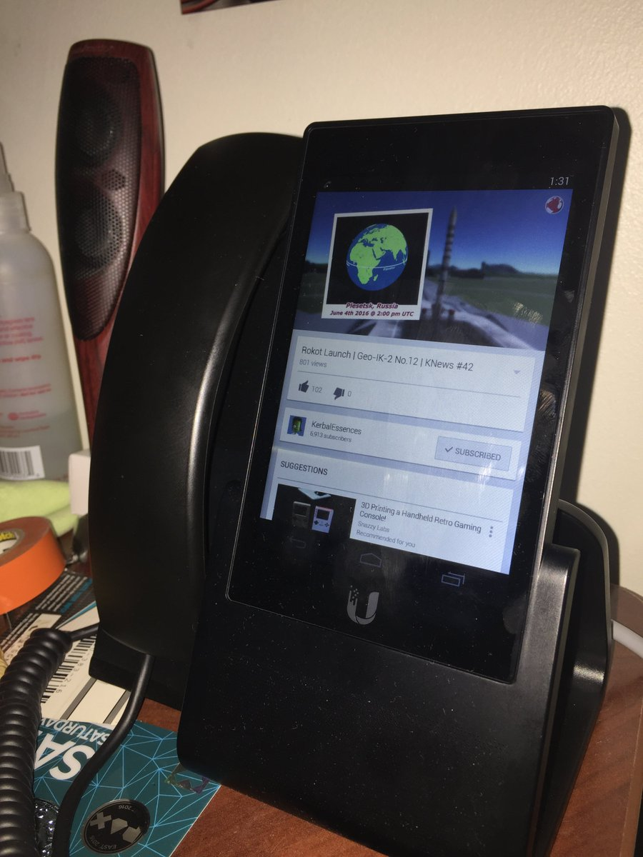 "I have reached the weird part of ""The Future"" where I can watch YouTube on my desk phone."