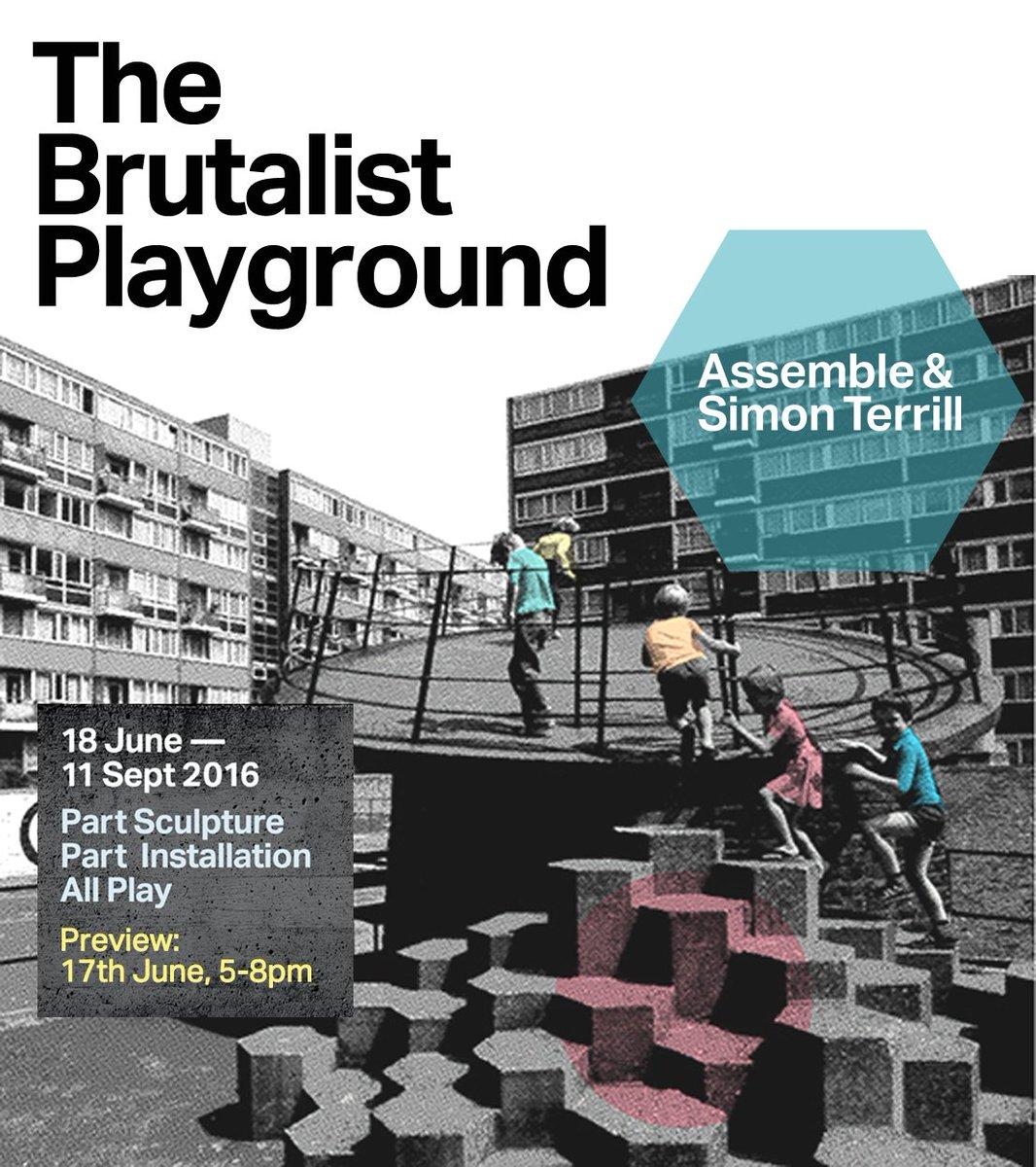 #BrutalistPlayground by Assemble & Simon Terrill opens @S1Artspace at Park Hill Sat 18 June. Part of @YorkshireFest https://t.co/m1ZrNuCKj3