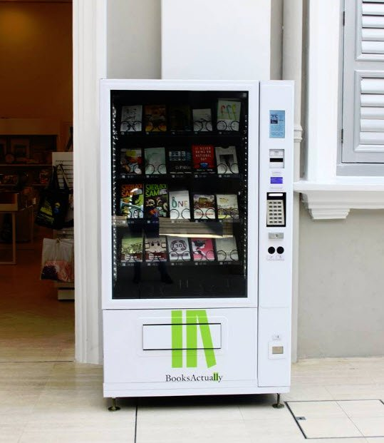 Independent bookstore BooksActually installs book vending machines in Singapore https://t.co/L4cgsq2oL0 https://t.co/CZ92TUl9Yf