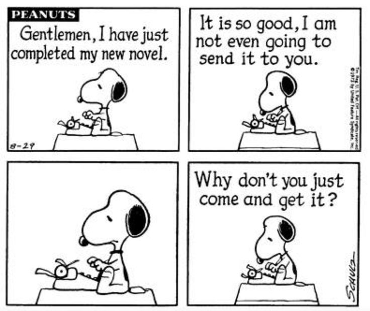 How to write a query letter according to Snoopy. #amwriting #amediting #published https://t.co/bbBoMVucEp
