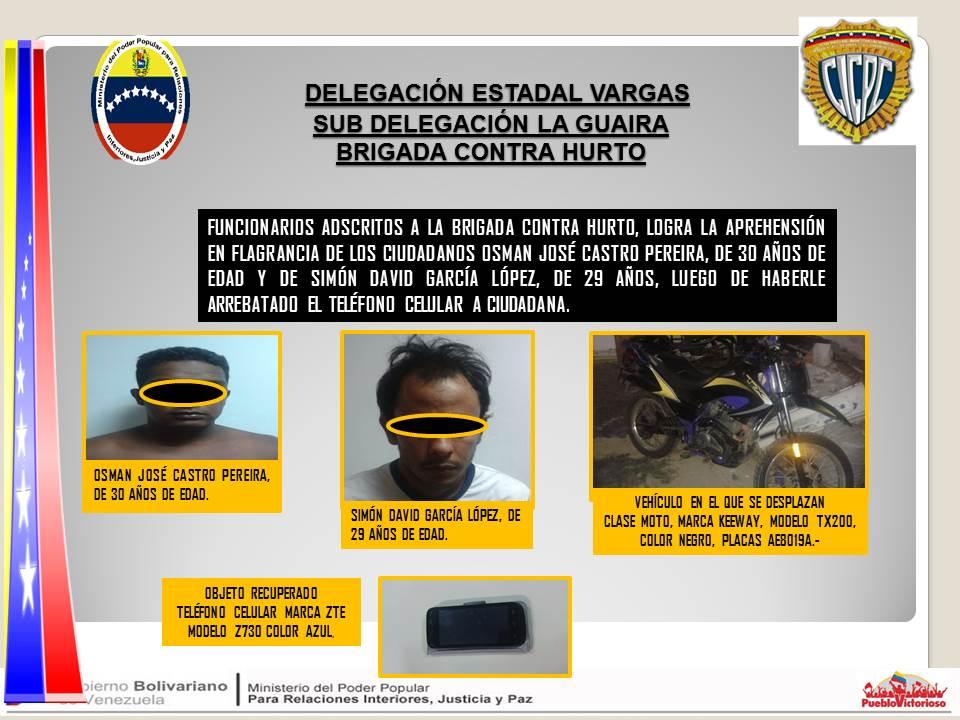 Delegacion La Guaira On Twitter Cicpc Vargas Aprehende En