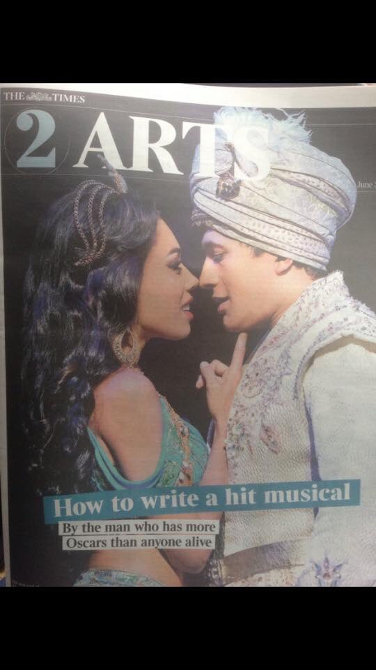 Today on the cover of @thetimes arts  mag @AladdinLondon @DeanJohnWilson #disney #aladdin #prince #princessjasmine https://t.co/ryjIONpQm2