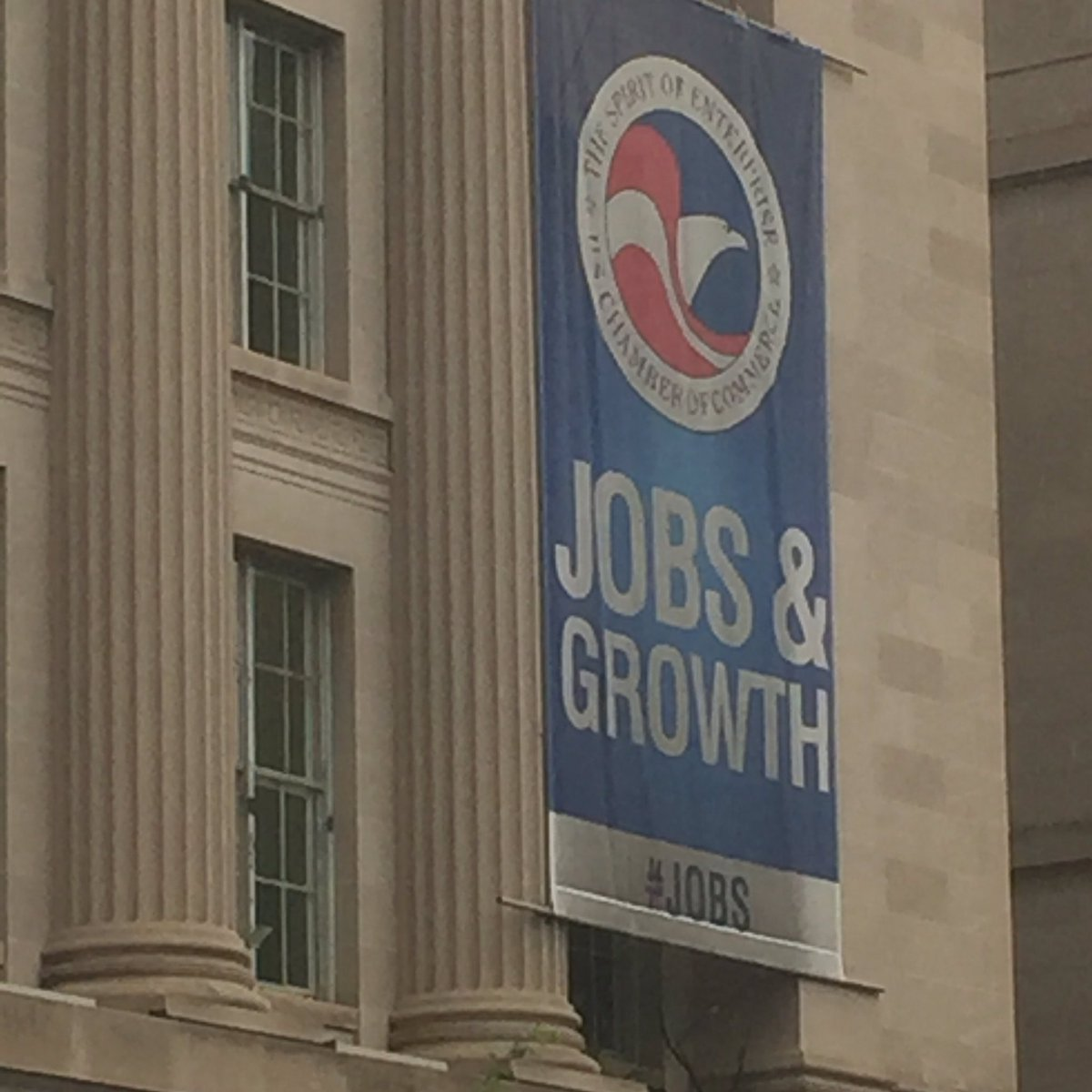 In DC I walked past this tired faded old banner with the tired faded old slogan it reminded me of something #auspol https://t.co/r2mTagNsb9