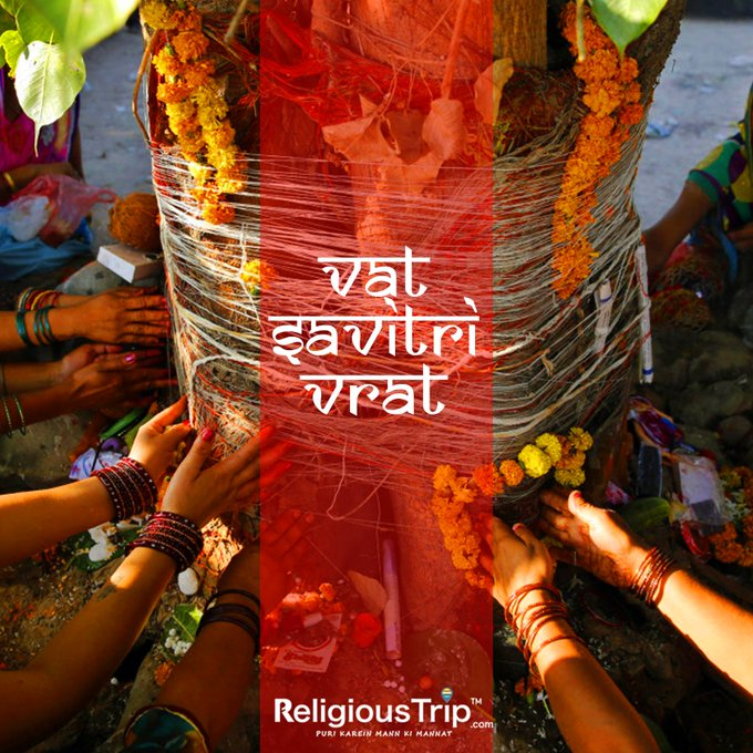 Vat Savitri Vrat observed by Hindu married women for health longevity of their husbands.  IMAGES, GIF, ANIMATED GIF, WALLPAPER, STICKER FOR WHATSAPP & FACEBOOK