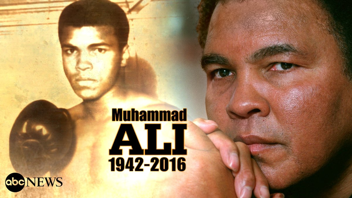 BREAKING: Boxing legend Muhammad Ali has passed away at age 74, family spokesperson says. https://t.co/QTJvTPCSSO