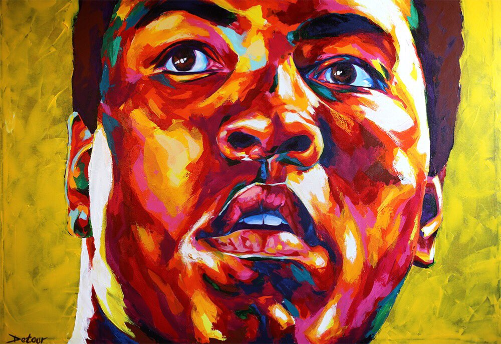 Rest in peace Muhammad Ali. A true leader in standing up for what you believe  #art  #muhammadali #ali #cassiusclay https://t.co/2kqgb8XP4b
