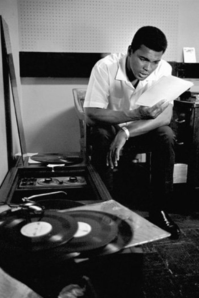 Ali, listening to the records. I always loved these. https://t.co/cf3Re8kaUE