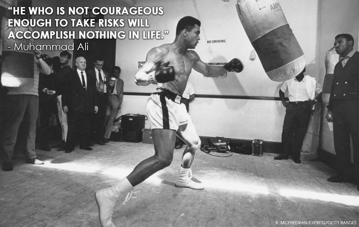 'He who is not courageous enough to take risks will accomplish nothing...