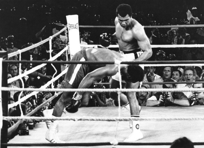 'J'étais battu.Ali aurait pu m'achever, il a retenu son coup.Alors,j'ai compris qu'il était le plus grand' G.Foreman