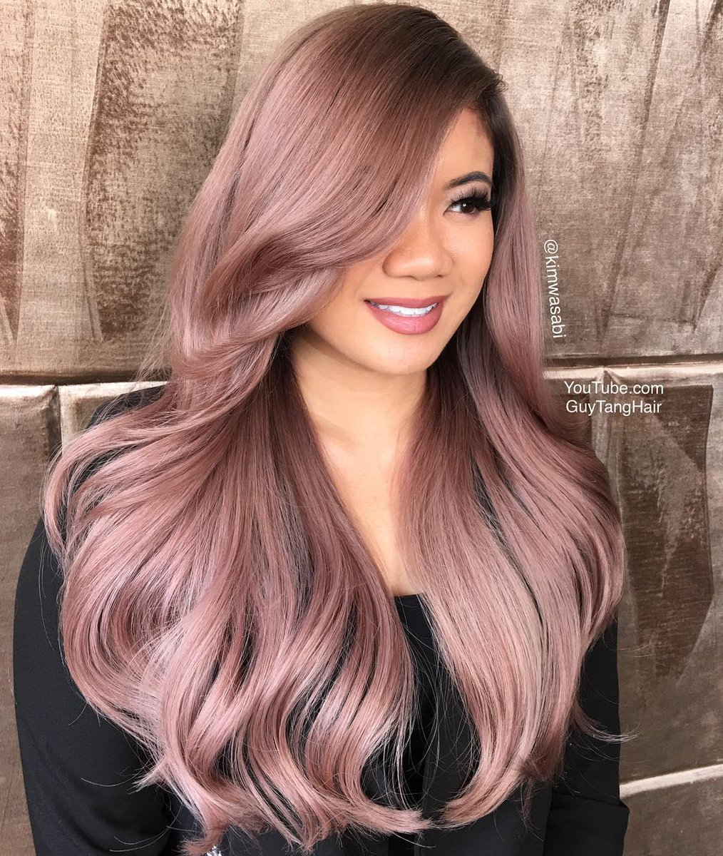 The Hair Boutique On Twitter This Rosewood Metallic Hair Colour By