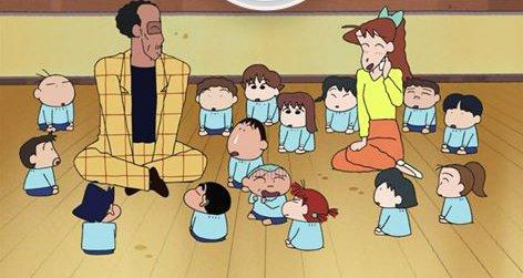 "Shinchan Official on Twitter: ""My yoshinaga mam and principal(boss).  #school #shinchan #yoshinaga #principal #boss #futabakindergarten #teacher…  """