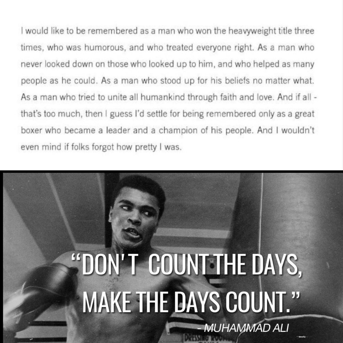 #MuhammadAli thank you for inspiring us with your life. https://t.co/y9qzSZiE8o