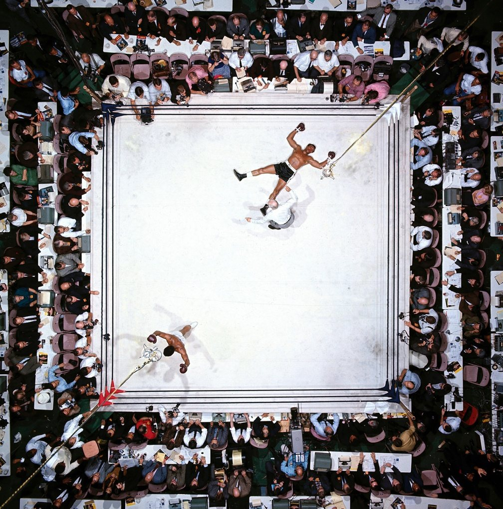 Voted as best sports photo ever by the Observer. Muhammad Ali after flooring Cleveland Williams in Houston, 1966. https://t.co/54pZJy3uiZ