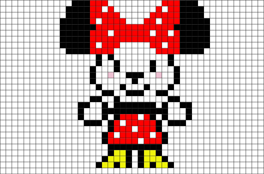 brik pixel art on twitter now available new pixelart template minniemouse mickeymouse. Black Bedroom Furniture Sets. Home Design Ideas