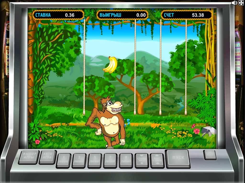 Игровой автомат Crazy Monkey Обезьянки, Крейзи Манки играть.