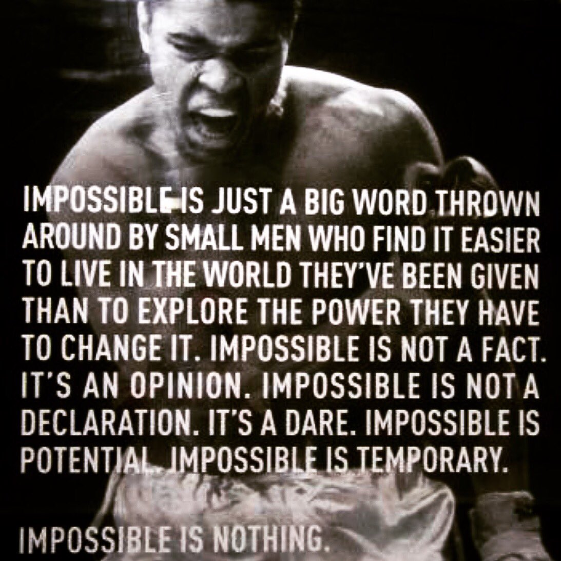'Impossible is Nothing'. RIP #MahammadAli https://t.co/k02N6E9PZ5