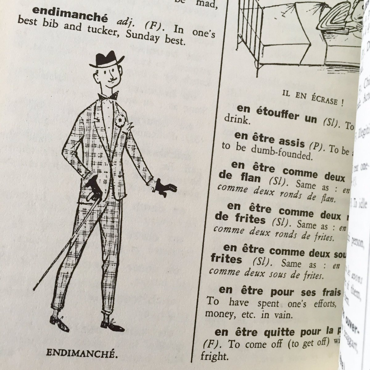 Jonathan Hsy On Twitter Another Gem From 1950s French Slang Dictionary A Single Word For Arrayed In Ones Sunday Best Endimanch