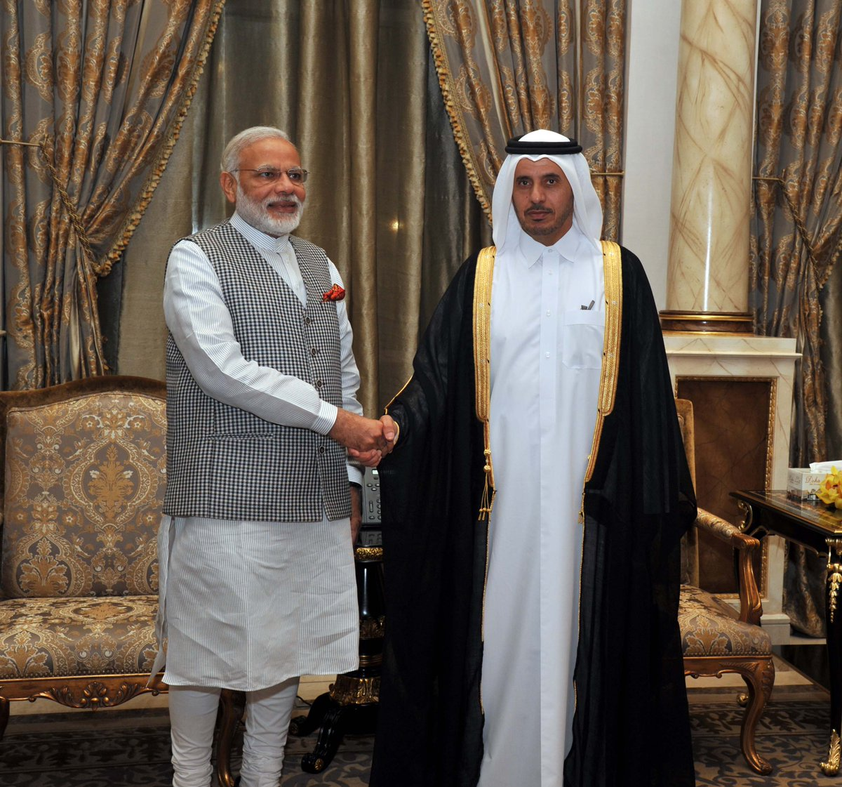 Met PM Sheikh Abdullah Bin Nasser Al Thani earlier this evening in Doha.
