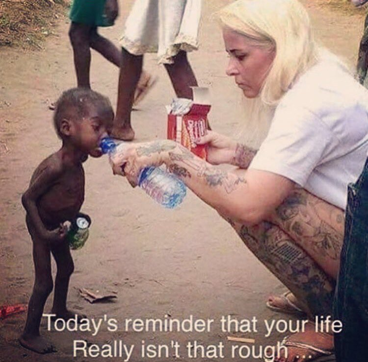 I Don't get a long with ungrateful ppl, Complaining or to selfish to realize our lives could be a lot harder.