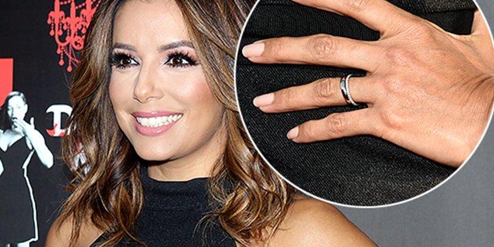 18c36b8d631 eva longoria debuts her wedding bands plural sans engagement ring via  peoplestyle