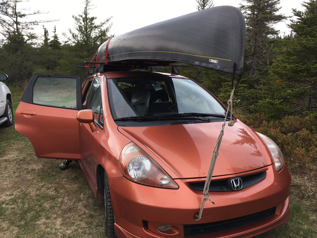 """TA Loeffler on Twitter: """"What did the @Honda Fit fit today? 1 canoe, 1 kayak,  3 adults, gardening gear & 1 Turtle Dove… """""""