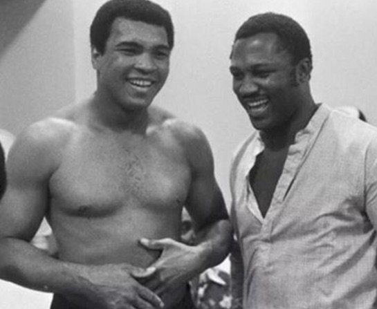 "Can only imagine what ""Smokin"" Joe Frazier and #MuhammadAli are talking about now. https://t.co/h3G6kwLIj7"