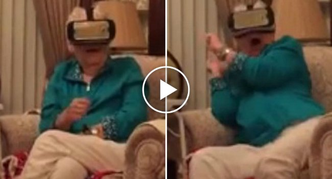 This Grany Using Virtual Reality For The First Time Is The Funniest Thing You Will See Today