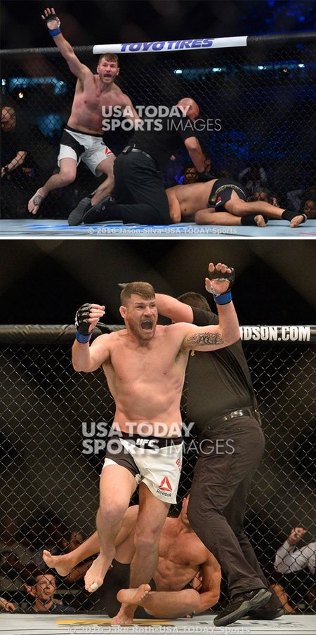 Thought we goofed/used Miocic pic. Instead, turns out Miocic/Bisping have similar holy-crap-I-won-the-title faces. https://t.co/6nZcUXzgHg