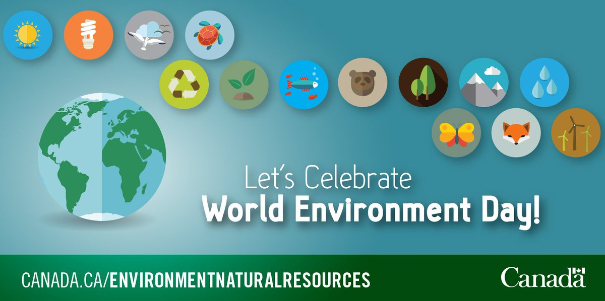 I'm so happy to celebrate #WorldEnvironmentDay! Happy 45th birthday, @environmentca! #EnviroWeek #CdnEnv #WED2016 https://t.co/axd6uuPdXK