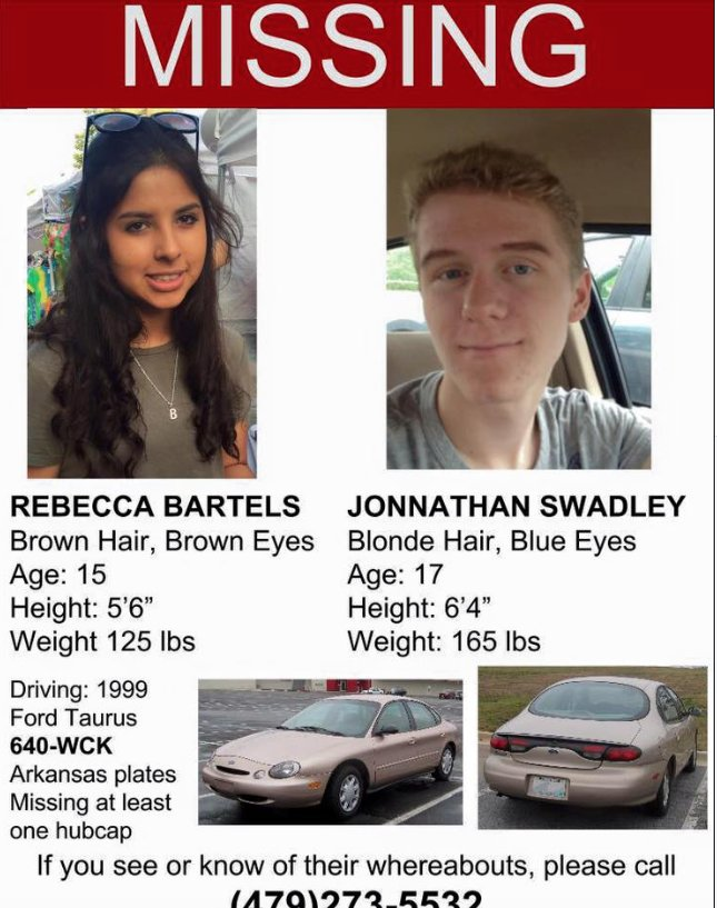 These 2 teens still missing. Rebecca's the daughter of my very dear friend. Your retweet could make a difference. https://t.co/zuOPuWsMcW