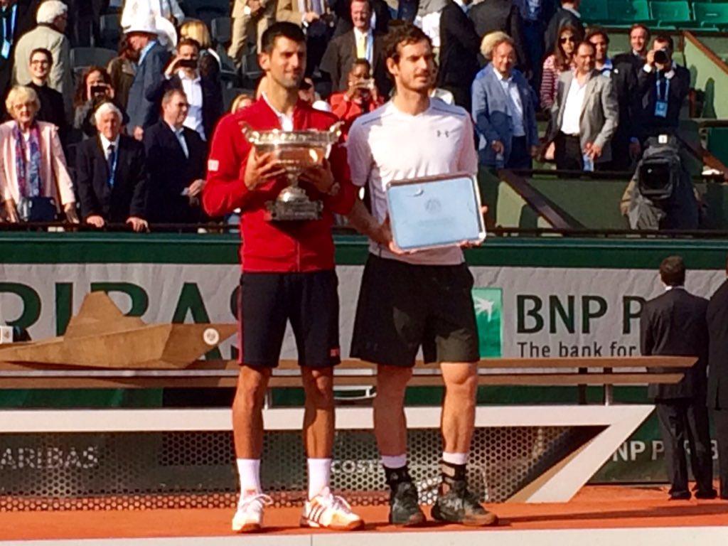Djokovic y Murray - RG '16 - @rolandgarros