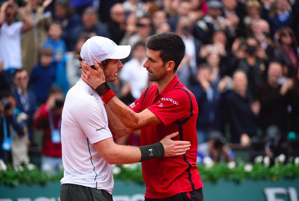 Djokovic saluda Murray - RG '16 - @rolandgarros