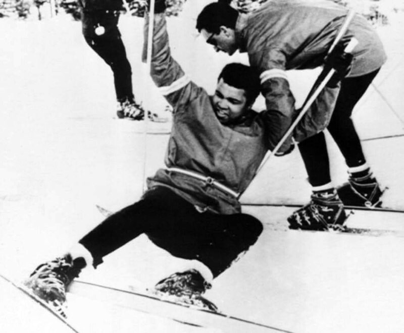 "Rest in peace Muhammad Ali. ""The Greatest"" on skis at Mount Snow in 1970. https://t.co/8WntoH4LOC"