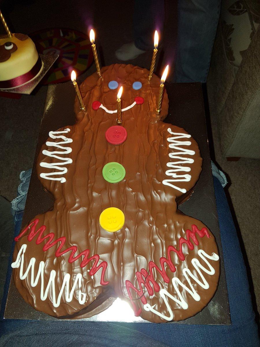 Sinie On Twitter Love My Gingerbread Man Birthday Cake And My