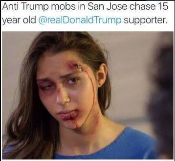 An image purporting to show a teen beaten by anti-Trump protesters is from a telenovela: https://t.co/sbRqKzxqQO https://t.co/oy6g8jncSQ