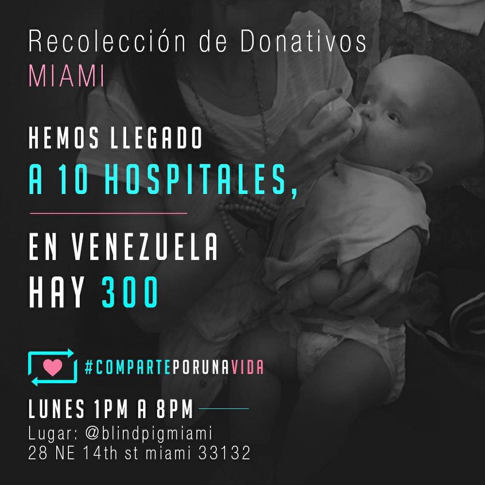 ¡ATENCIÓN! @compartex1vida recibirá donativos en Miami para ayudar a niños enVenezuela https://t.co/NYvQhsA9pP https://t.co/bTPf4Lso1V