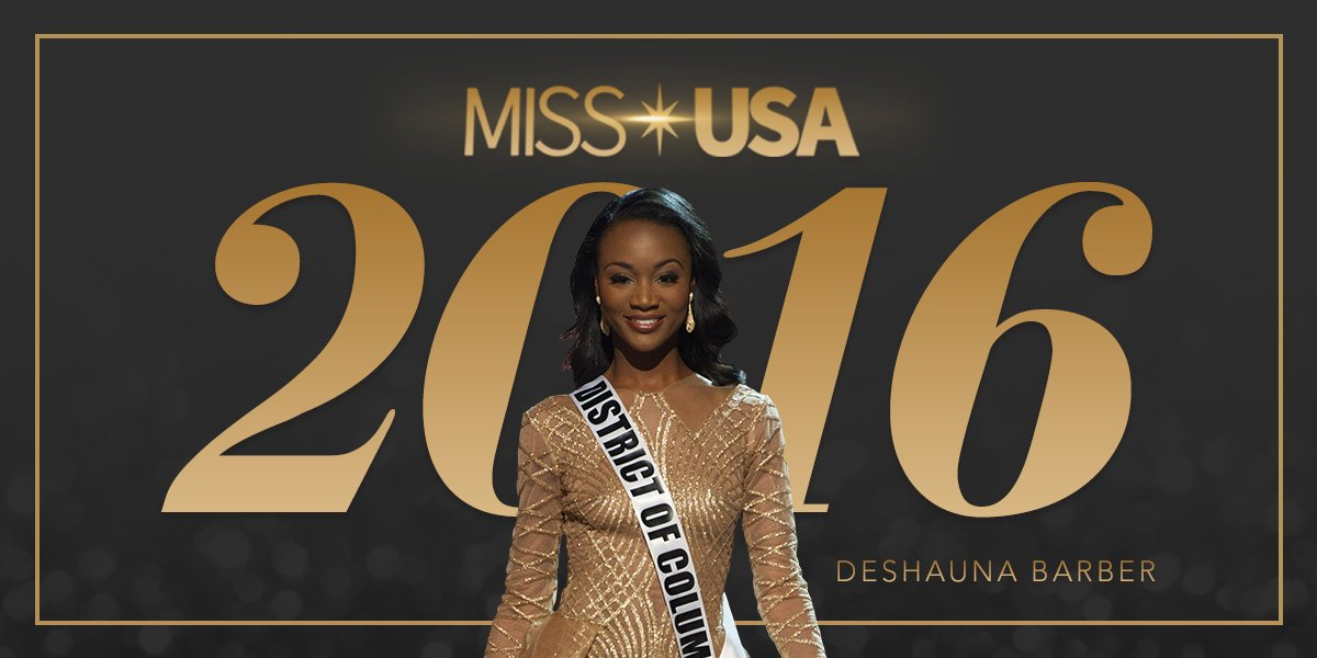 From the District of Columbia, #MissUSA 2016 Deshauna Barber!   This Queen belongs in the White House. https://t.co/4WrvAM5eSl